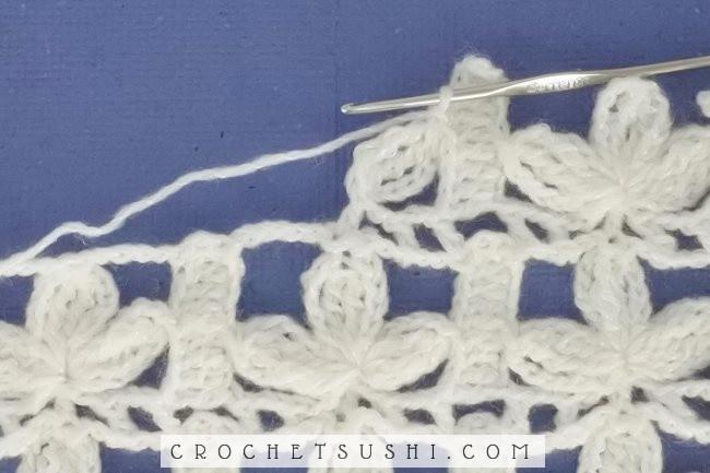 Ponto 3 pétalas de crochê - Passo-a-passo e gráfico
