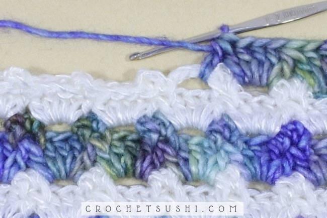 Ponto fantasia 1 de crochê passo-a-passo - crochet stitch step by step