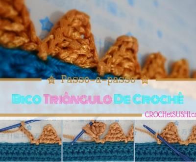 Bico triângulo de crochê - Crochet step by step